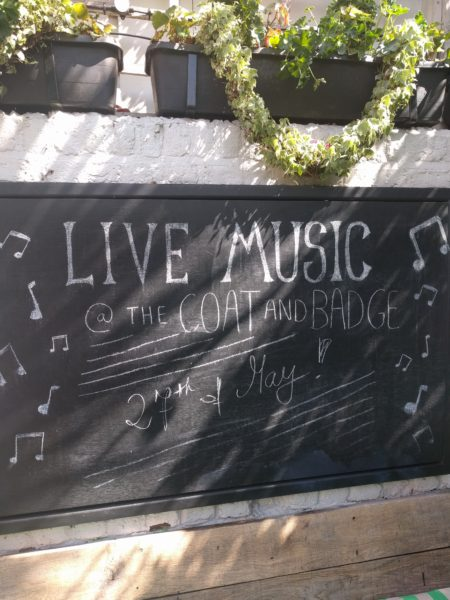 Live Music at The Coat and Badge