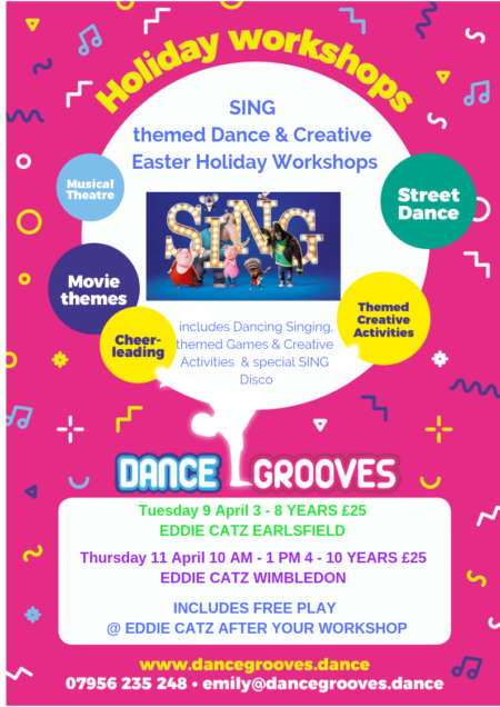 SING themed Dance & Creative Easter Holiday Workshop at The Half Moon Putney
