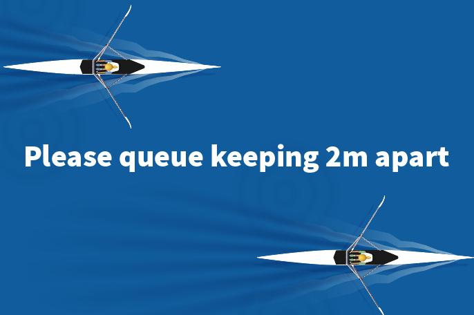 Rowers 2 metres aprt