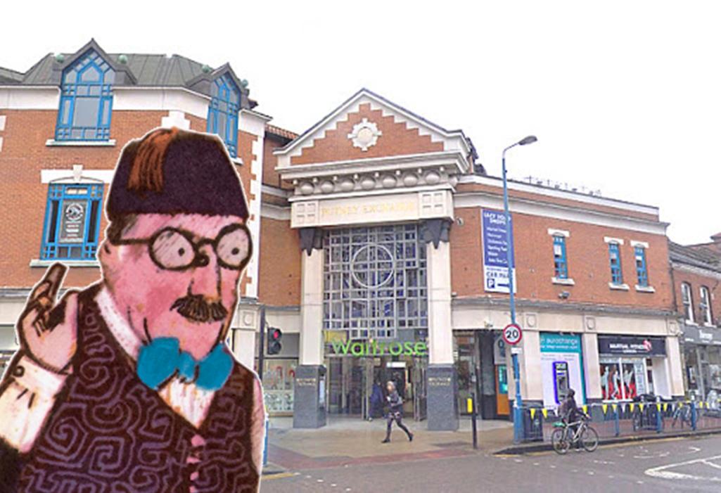 The Shopkeeper outside Putney Exchange