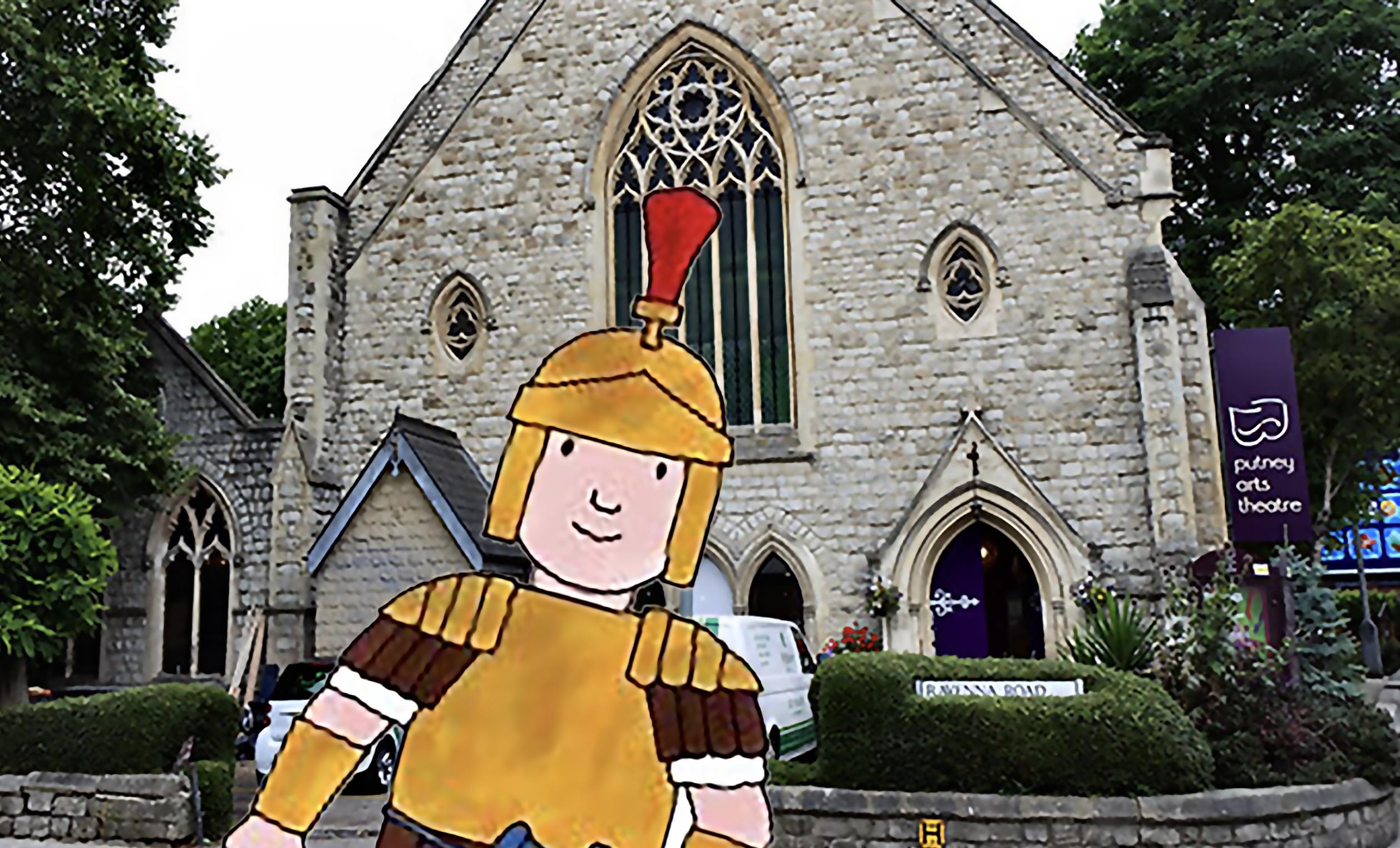 Mr Benn dressed as a gladiator in Putney